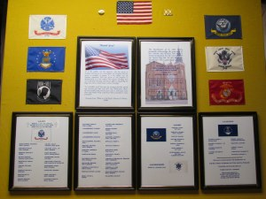 Veterans Honor Roll hanging in vestibule of St. John Kanty Church